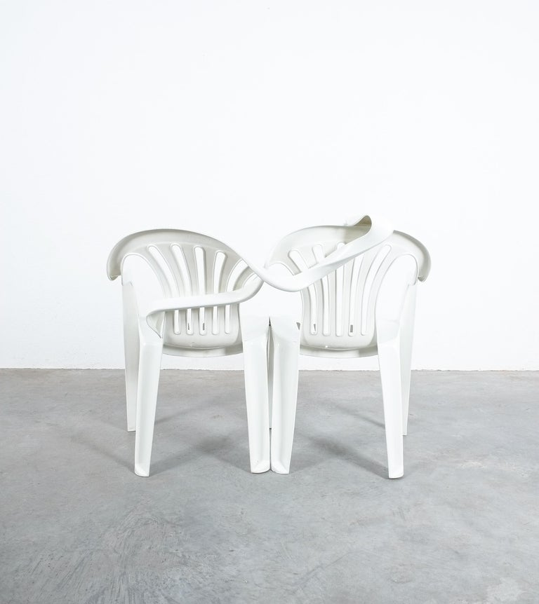 Austrian Dudes Plastic Chair Appropriation by Bert Loeschner For Sale