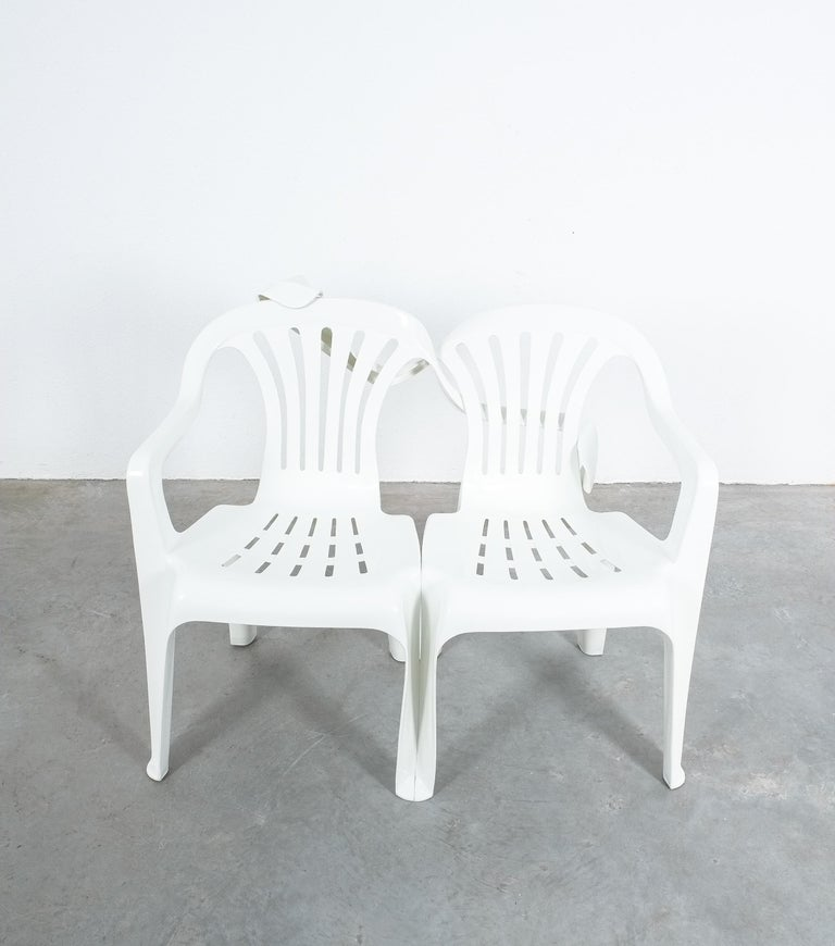Dudes Plastic Chair Appropriation by Bert Loeschner In Excellent Condition For Sale In Vienna, AT