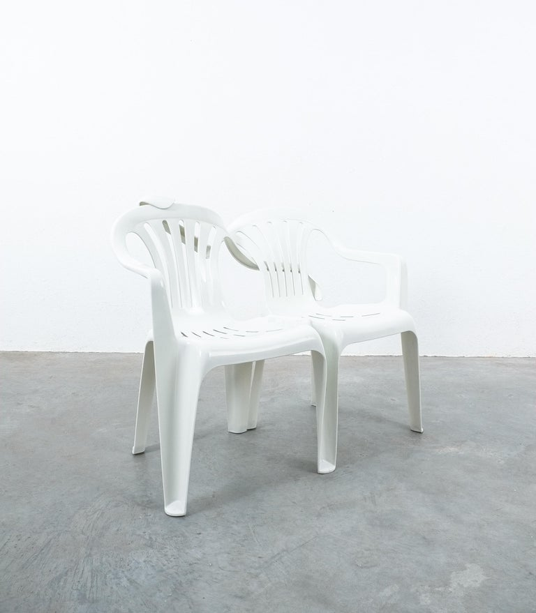 Contemporary Dudes Plastic Chair Appropriation by Bert Loeschner For Sale