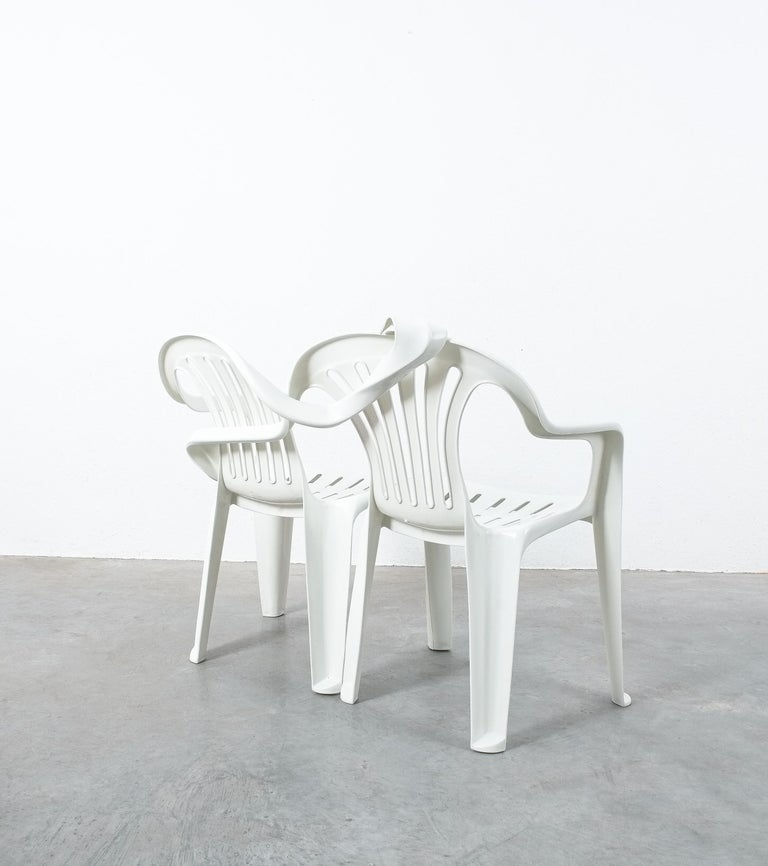 Dudes Plastic Chair Appropriation by Bert Loeschner For Sale 1