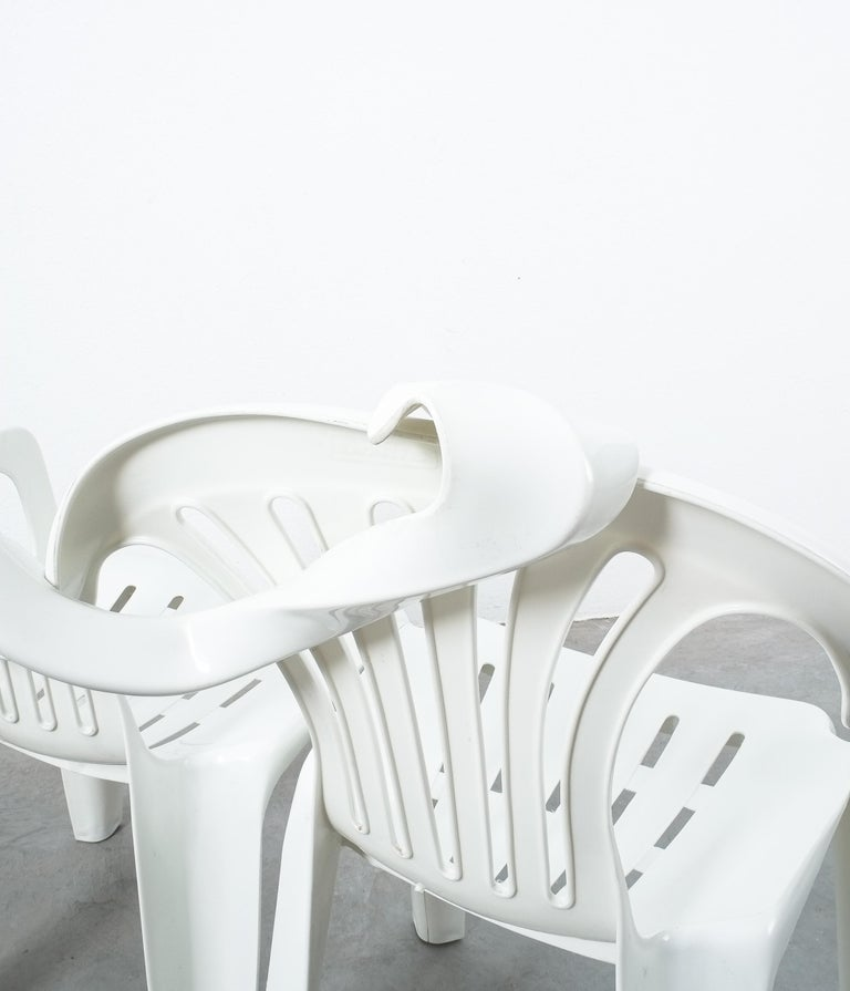 Dudes Plastic Chair Appropriation by Bert Loeschner For Sale 2