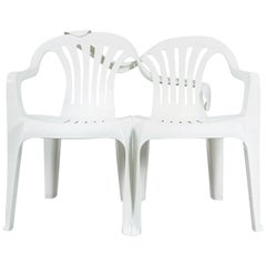 Dudes Plastic Chair Appropriation by Bert Loeschner