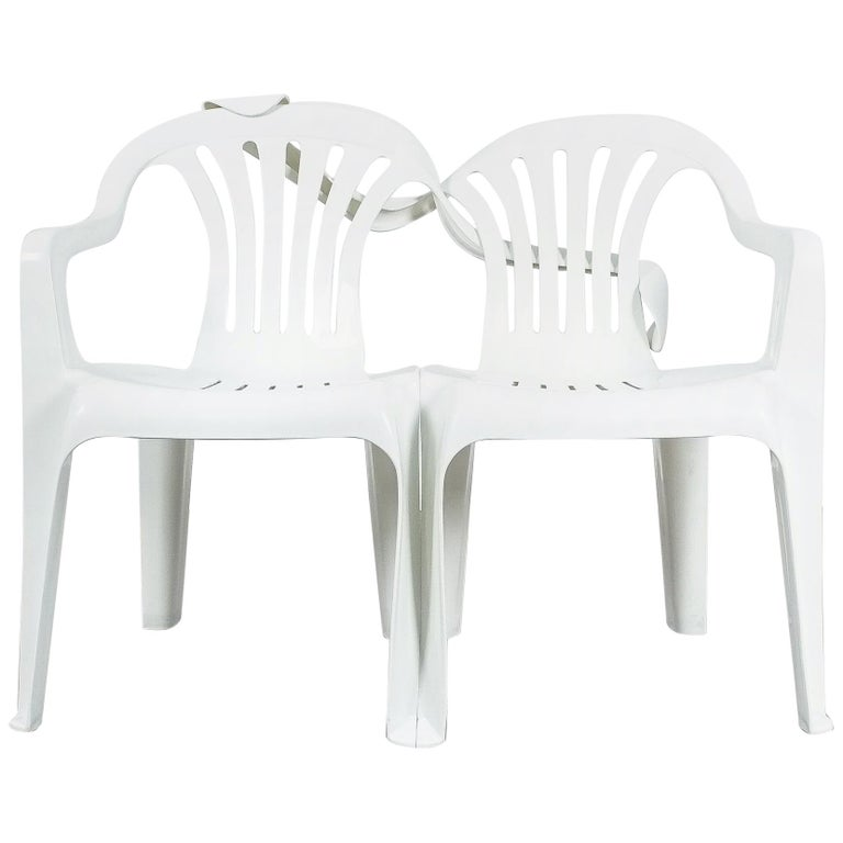 Dudes Plastic Chair Appropriation by Bert Loeschner For Sale