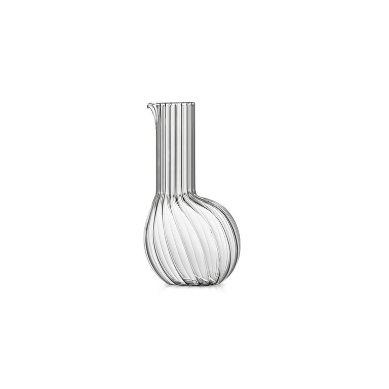 Modern Dudù High Mouth Blown Glass Carafe Designed by Matteo Cibic For Sale