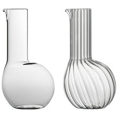 Dudù High Mouth Blown Glass Carafe Designed by Matteo Cibic