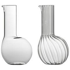 Dodù hohe mundgeblasene Glaskaraffe entworfen von Matteo Cibic