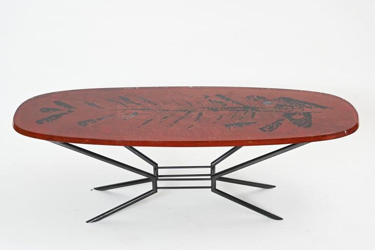 Italian Duilio Barnabé, Aka 'Dube' Cocktail Table for Fontana Arte For Sale