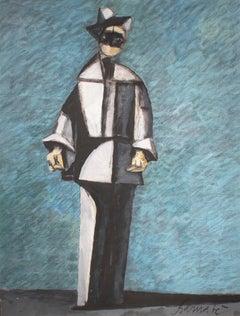 Arlecchino in blu e grigio (Harlequin in Blue and Gray)