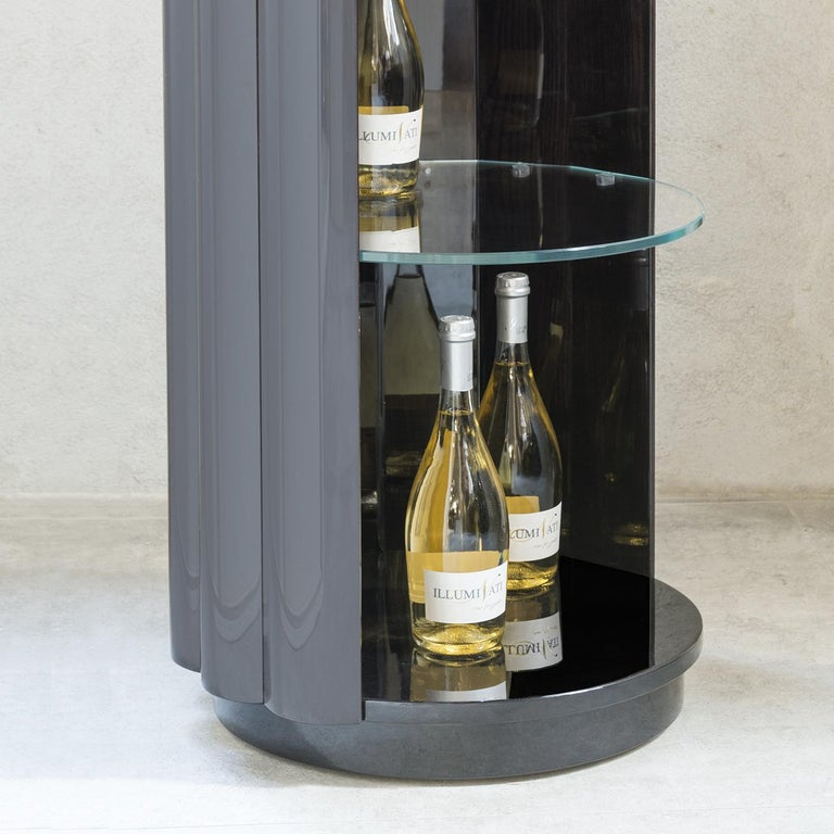 Italian Duilio Drink Cabinet with Casters by Isabella Costantini For Sale