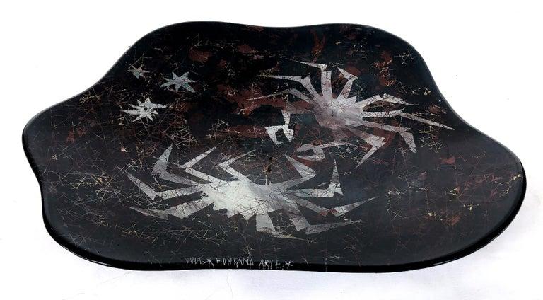 Duilio Dubé Bernabe Fontana Arte Glass Centerpiece Bowl In Good Condition For Sale In Miami, FL