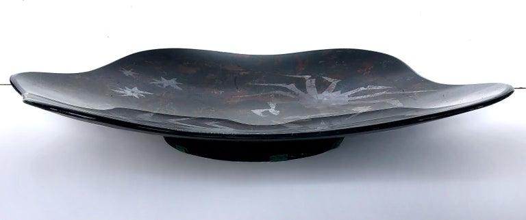 20th Century Duilio Dubé Bernabe Fontana Arte Glass Centerpiece Bowl For Sale