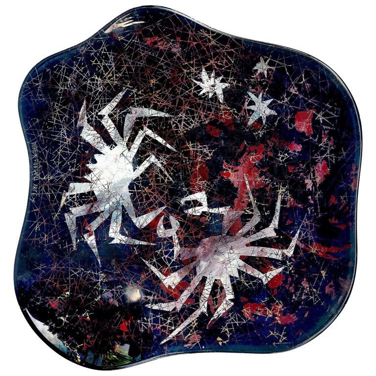 Duilio Dubé Bernabe Fontana Arte Glass Centerpiece Bowl For Sale