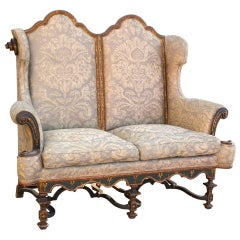 Duke of Leeds Hornby Castle Settee in Fortuny