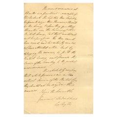 Duke of Wellington Antique 1811 Handwritten Signed Letter