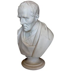 Duke of Wellington Marble Bust, 20th Century