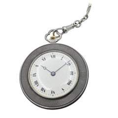 Duke of Wellington Medal Pocket Watch Silver with Chain, 1930