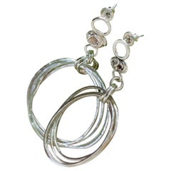 Robin Erfe Dulce Fragmentos Hoops in Sterling and Argentium Silver