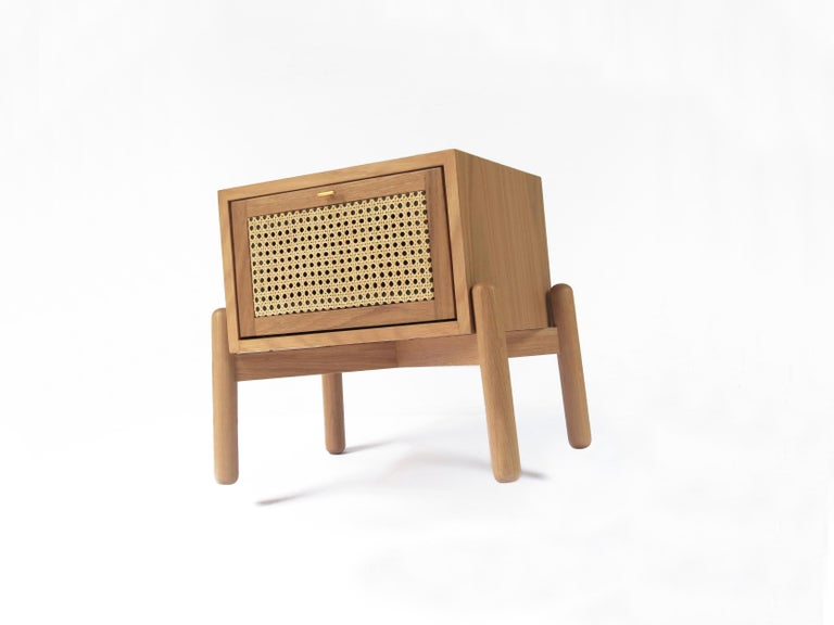 Modern Dumas Nightstand, Contemporary Mexican Design Customized For Sale