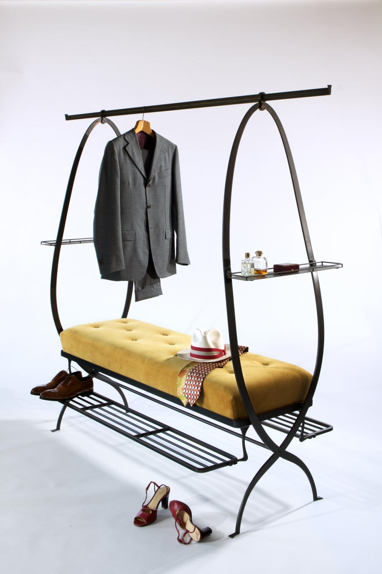 21st Century Bronze-Plated Steel Dressing Bench, the Dumb Valet For Sale 2