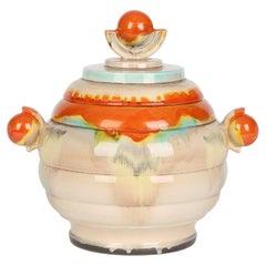 Dumler & Breiden Attributed German Art Deco Pottery Lidded Punch Pot