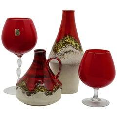 Dumler & Breiden /Empoli 'Florence Opaline' Group of Vases '1970s'