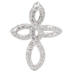 Dunay Diamond Cross Necklace in Platinum 1 Carat