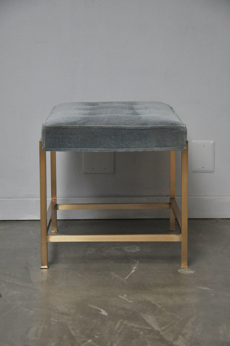 Dunbar Brass Stool by Edward Wormley For Sale 1