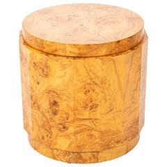 Dunbar Burl Olive Wood Side Table by Edward Wormley