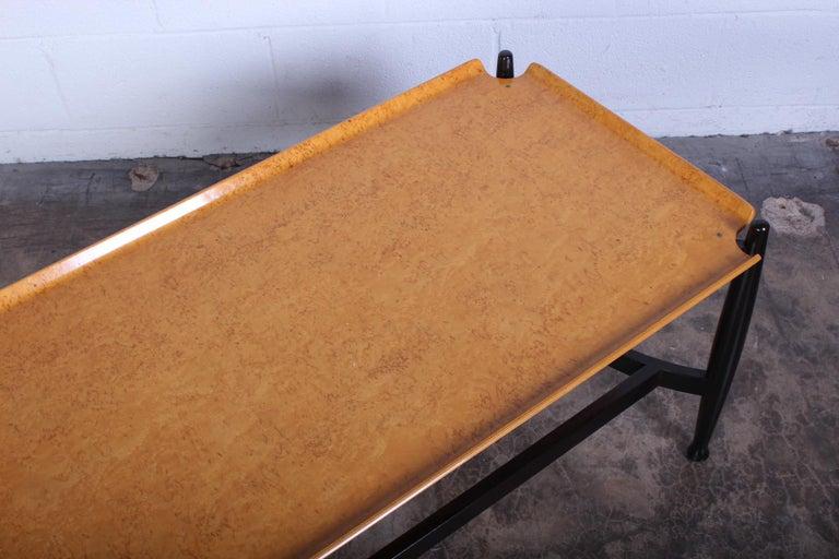 Dunbar Burled Birch Table by Edward Wormley For Sale 6