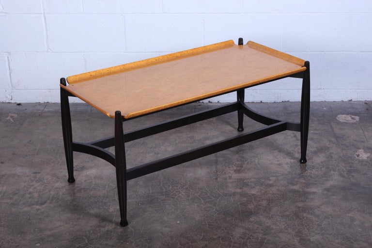 Dunbar Burled Birch Table by Edward Wormley For Sale 7