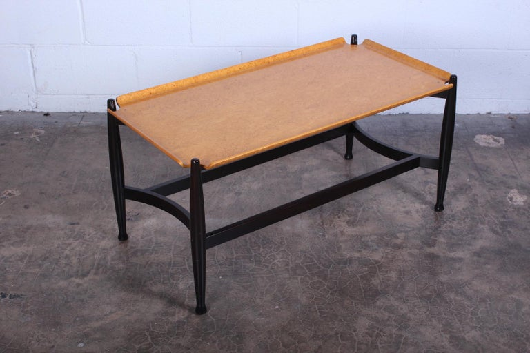 Dunbar Burled Birch Table by Edward Wormley In Good Condition For Sale In Dallas, TX