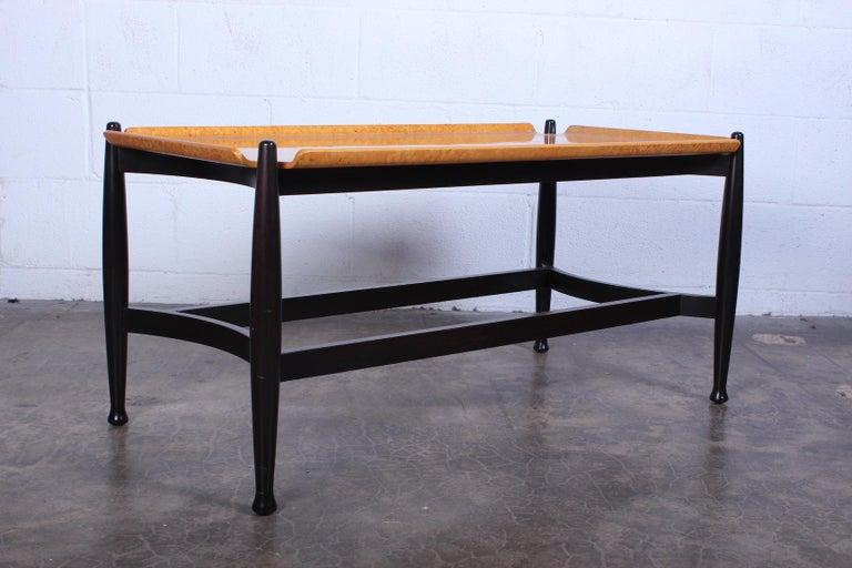 Mid-20th Century Dunbar Burled Birch Table by Edward Wormley For Sale