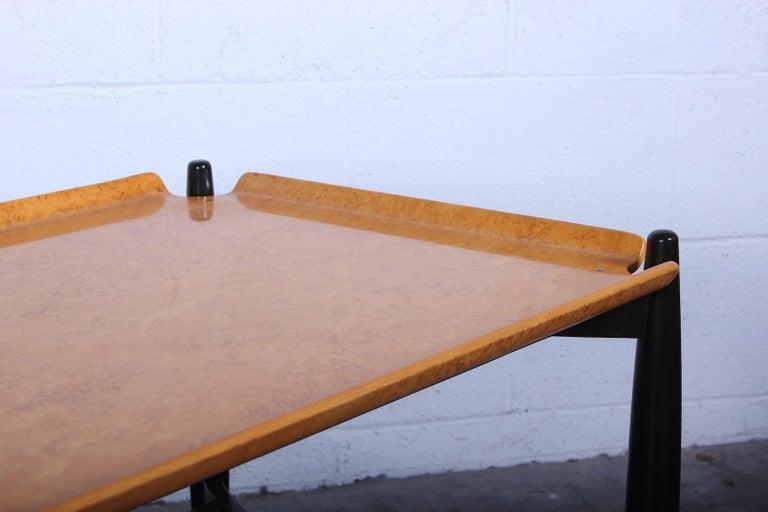Dunbar Burled Birch Table by Edward Wormley For Sale 3