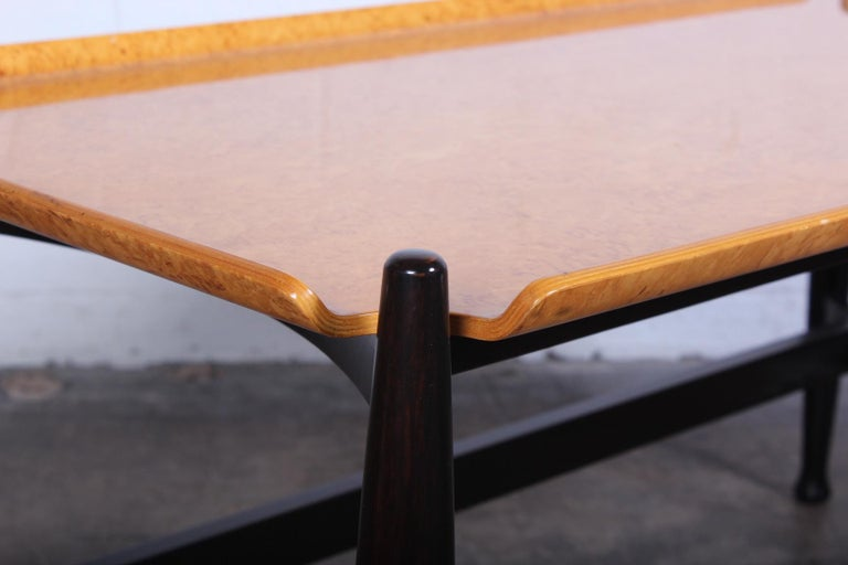 Dunbar Burled Birch Table by Edward Wormley For Sale 4