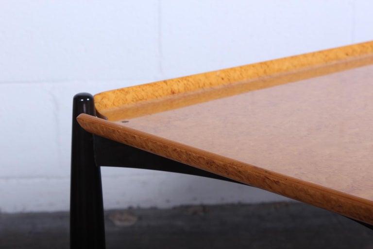 Dunbar Burled Birch Table by Edward Wormley For Sale 5