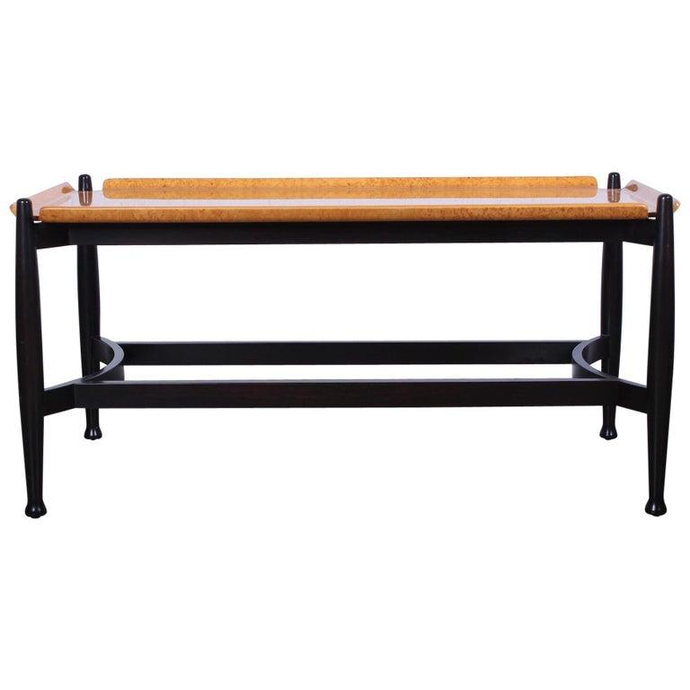 Dunbar Burled Birch Table by Edward Wormley For Sale