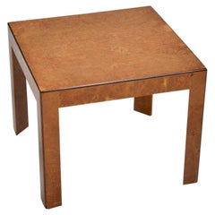 Dunbar Burled Elm Side Table