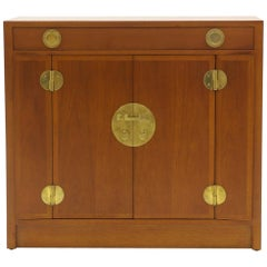 Dunbar Cabinet, Mahogany and Brass, Four Doors, One Drawer, Excellent