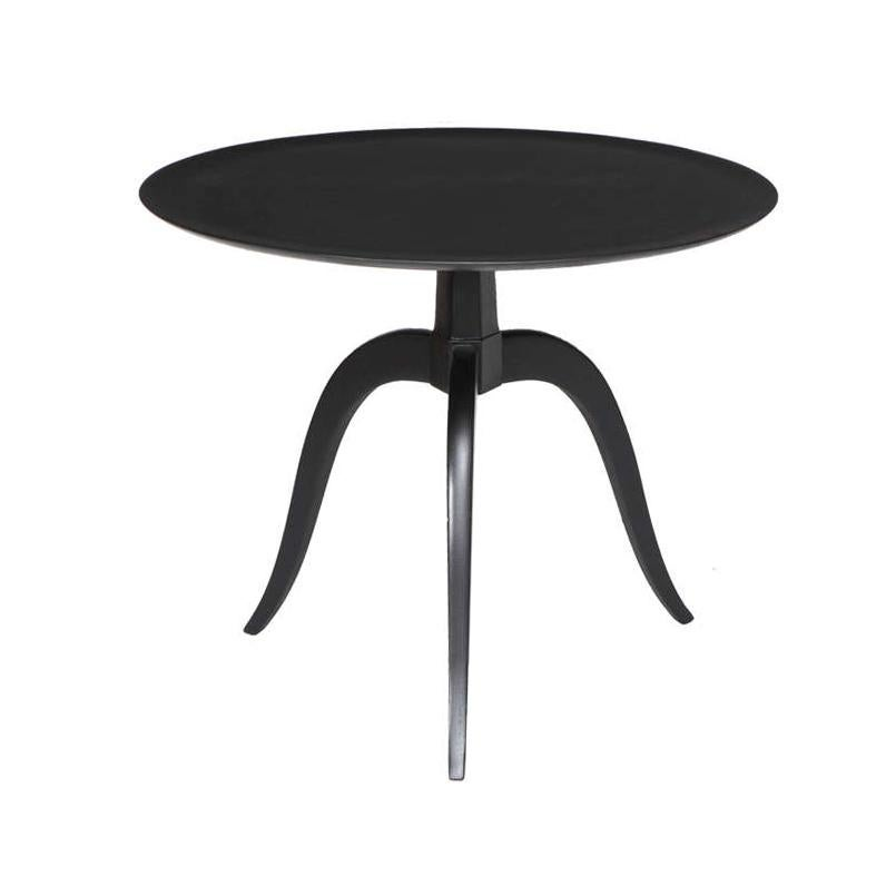 Dunbar Ebonized Round End Table