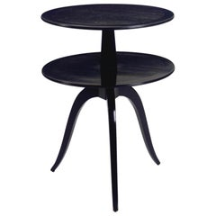 Dunbar Ebonized Two Tier End Table by Edward Wormley