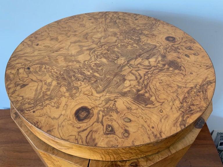 American Dunbar Edward Wormley Bar Cabinet Olive Wood Burl For Sale