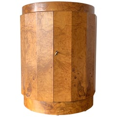 Dunbar Edward Wormley Bar Cabinet Olive Wood Burl