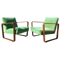 Dunbar Edward Wormley Designed Lounge Chairs 1940s Model 4731 Morris
