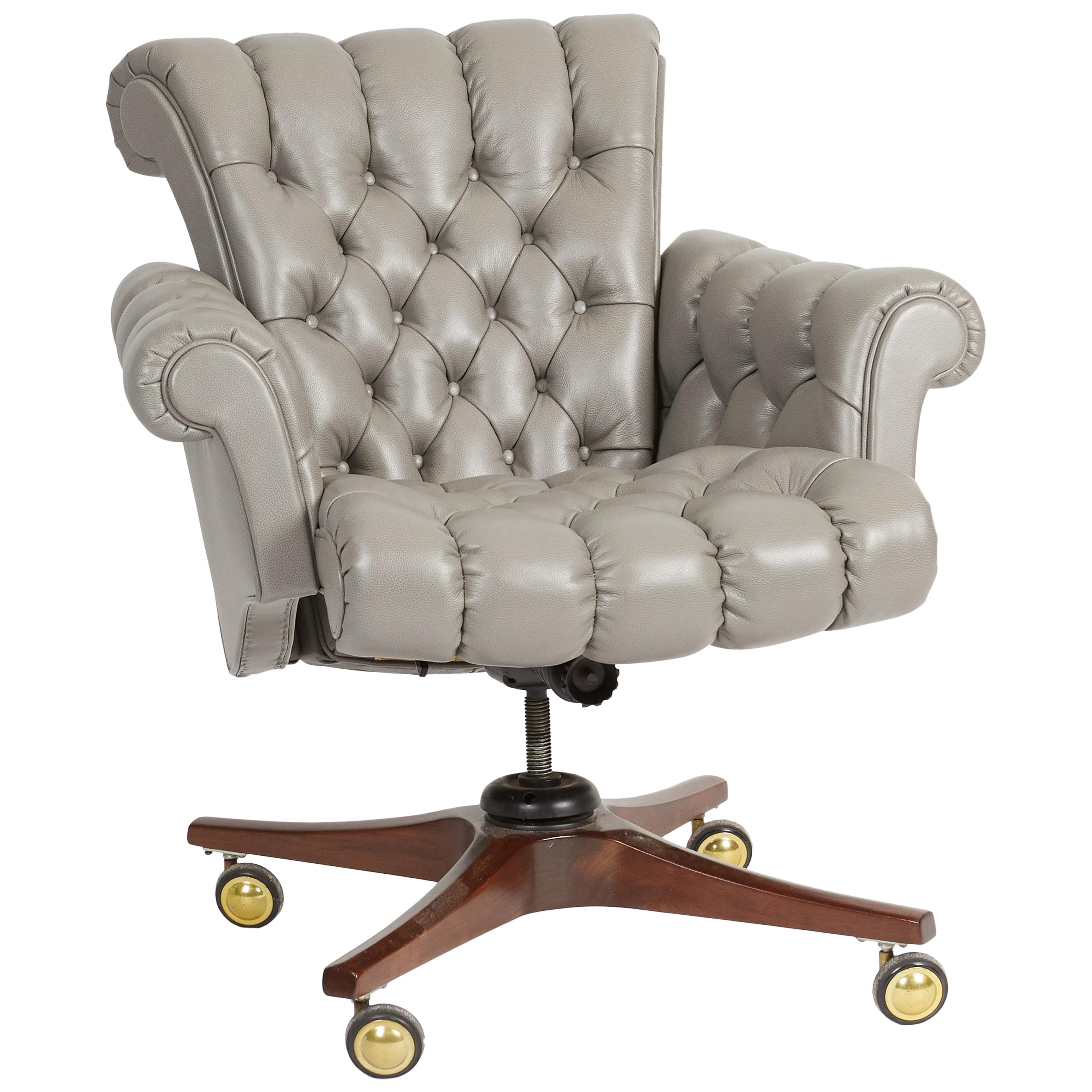 """Shop For Cheap Model 932 """"in Clover"""" Executive Office Chair By Edward Wormley For Dunbar Post-1950 Furniture"""