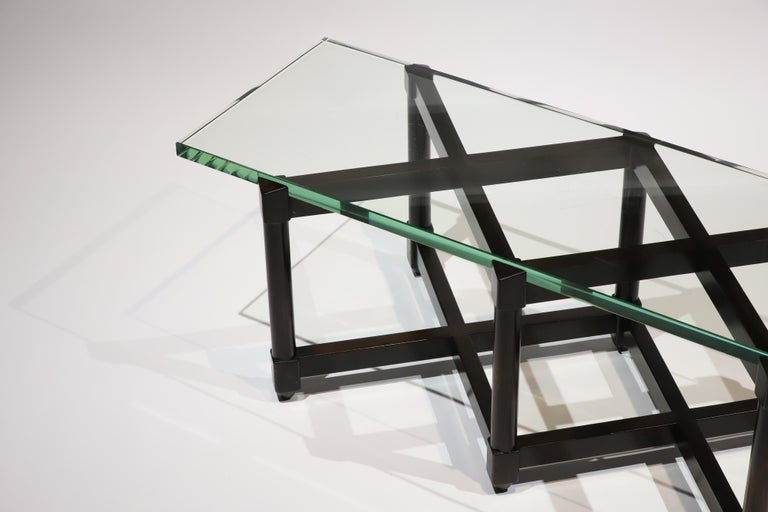 Dunbar Glass Top Cocktail Table by Edward Wormley For Sale 6
