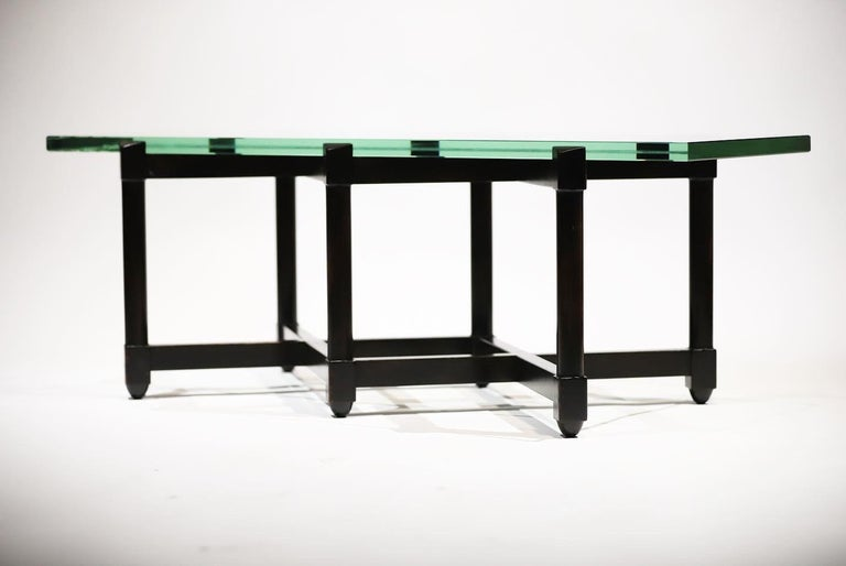 Dunbar Glass Top Cocktail Table by Edward Wormley For Sale 13