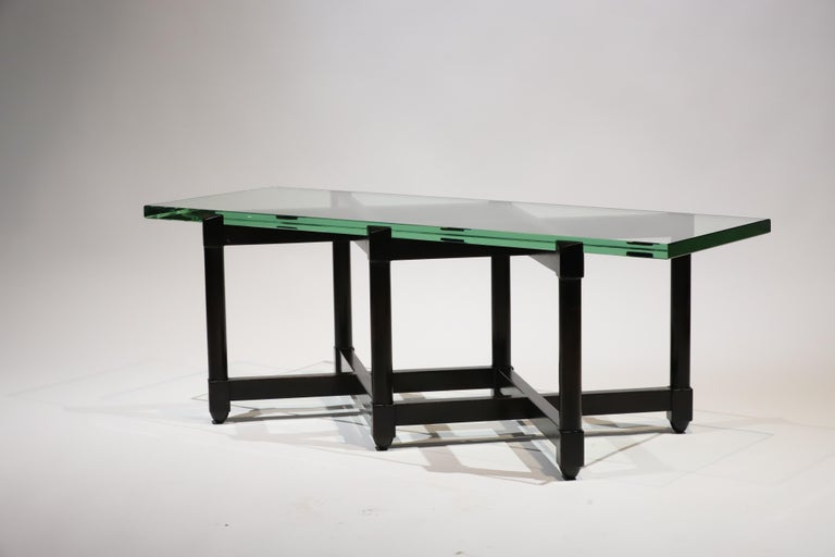 Mid-Century Modern Dunbar Glass Top Cocktail Table by Edward Wormley For Sale