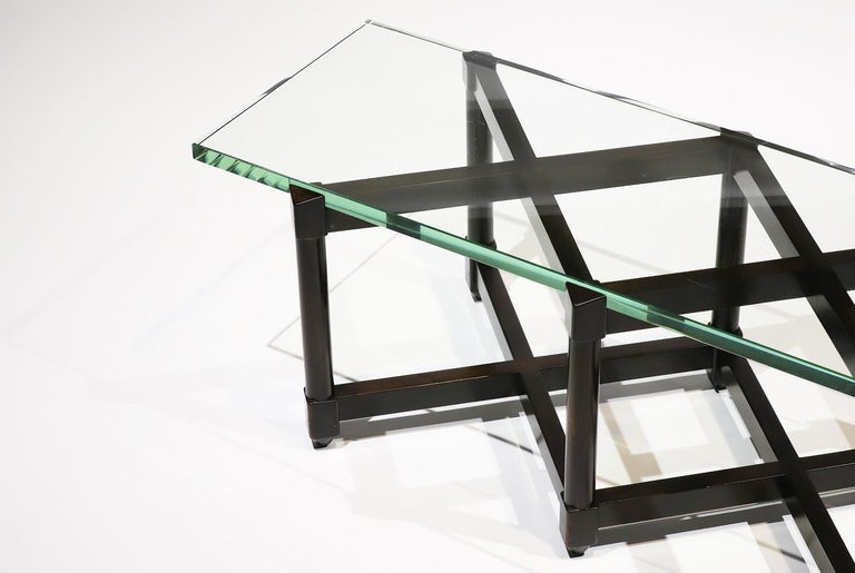 American Dunbar Glass Top Cocktail Table by Edward Wormley For Sale
