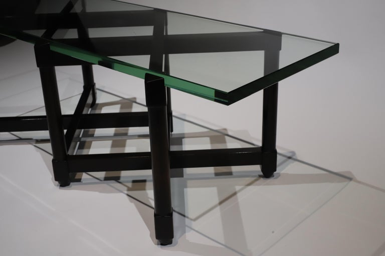 Mid-20th Century Dunbar Glass Top Cocktail Table by Edward Wormley For Sale