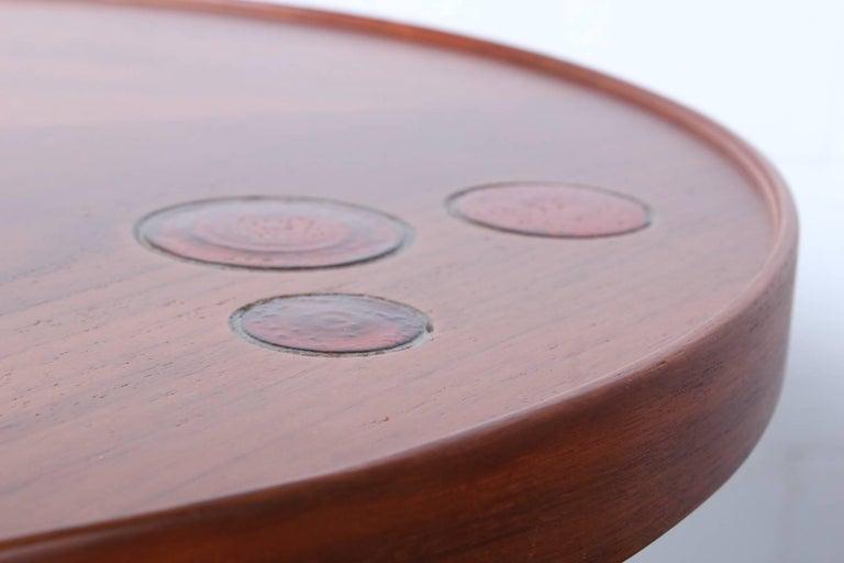 Dunbar Janus Table by Edward Wormley with Natzler Tiles For Sale 6
